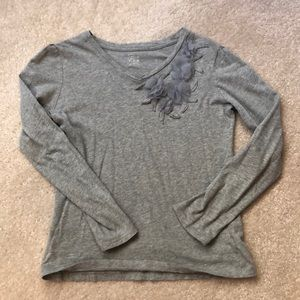 Grey embellished T-shirt